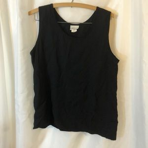 Made in the USA black tank top